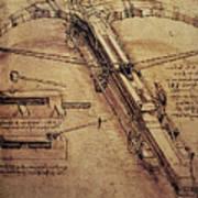 Design For A Giant Crossbow Poster by Leonardo Da Vinci