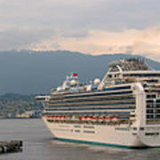 Diamond Princess Leaving Vancouver British Columbia Canada Poster by Christine Till