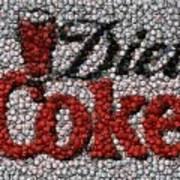 Diet Coke Bottle Cap Mosaic Poster by Paul Van Scott