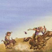 Don Quixote Poster by Andy Catling