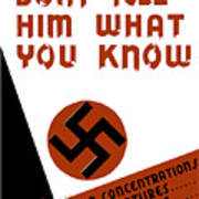 Don't Tell Him What You Know Poster by War Is Hell Store