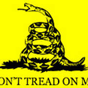 Don't Tread On Me Flag Poster by War Is Hell Store