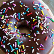 Donut With Sprinkles Poster by Kim Fearheiley