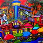 Downtown Attractions Poster by Patti Schermerhorn