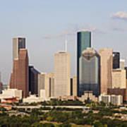 Downtown Houston Skyline Poster by Jeremy Woodhouse