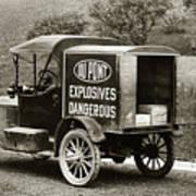 Du Pont Co. Explosives Truck Pennsylvania Coal Fields 1916 Poster by Arthur Miller
