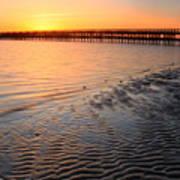 Duxbury Beach Powder Point Bridge Sunset Poster by John Burk