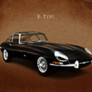 E Type Jaguar Poster by Mark Rogan