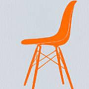 Eames Fiberglass Chair Orange Poster by Naxart Studio