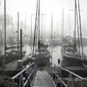 Early Morning On The Docks Poster by Laurie With