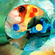 Earth Balance - Yin And Yang Art Poster by Sharon Cummings