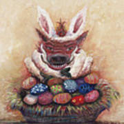 Easter Hog Poster by Nadine Rippelmeyer