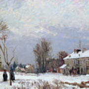 Effects Of Snow Poster by Camille Pissarro