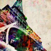 Eiffel Tower Poster by Michael Tompsett