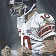 Eli Manning Super Bowl Mvp Poster by David Courson