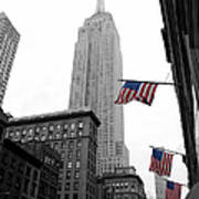 Empire State Building In The Mist Poster by John Farnan