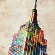Empire State Building Poster by Michael Tompsett
