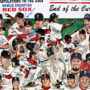 End Of The Curse Red Sox Newspaper Poster Poster by Dave Olsen