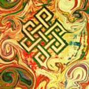 Endless Knot Two Poster by Kevin J Cooper Artwork