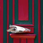 Entrance Door And Newspaper Poster by Heiko Koehrer-Wagner