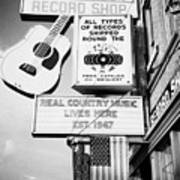 ernest tubbs record shop on broadway downtown Nashville Tennessee USA Poster by Joe Fox
