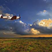 Evening Spitfire Poster by Meirion Matthias