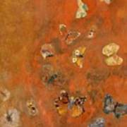 Evocation Of Butterflies Poster by Odilon Redon