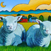 Ewe Two Poster by Stacey Neumiller