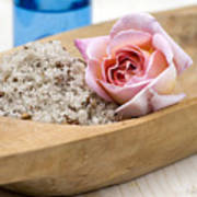 Exfoliating Body Scrub From Sea Salt And Rose Petals Poster by Frank Tschakert