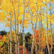 Fall Aspen Santa Fe Poster by Gary Kim