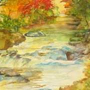 Fall On East Fork River Poster by Kris Dixon