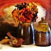 Fall Still Life Poster by Marsha Heiken