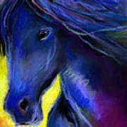 Fantasy Friesian Horse Painting Print Poster by Svetlana Novikova