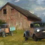Farm Scene Poster by Jack Zulli