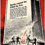 Fdr Quote On Book Burning  Poster by War Is Hell Store