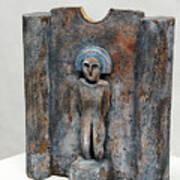 Female Figurine - Goddess Worship - Matrone - Matrones -matronen - Matrona - Diosa-nettersheim Eifel Poster by Urft Valley Art