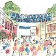 Fenway Park Poster by Matt Gaudian