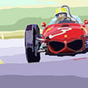 Ferrari 156 Dino 1962 Dutch Gp Poster by Yuriy  Shevchuk