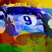 Ferrari Testarossa Watercolor Poster by Naxart Studio