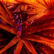 Fiery Palm Poster by Susanne Van Hulst