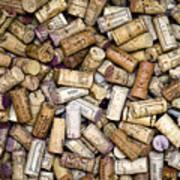 Fine Wine Corks Poster by Frank Tschakert