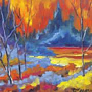Fire Lake Poster by Richard T Pranke