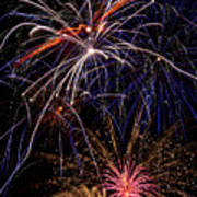 Fireworks Celebration  Poster by Garry Gay