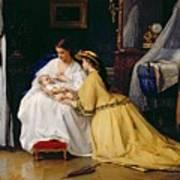 First Born Poster by Gustave Leonard de Jonghe