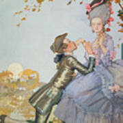 First Love Poster by Konstantin Andreevic Somov