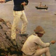 Fisher Boys Falmouth Poster by Henry Scott Tuke
