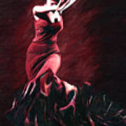 Flamenco Swirl Poster by James Shepherd