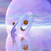 Floating Spheres IIi Poster by Wayne Bonney