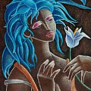 Flor Y Viento Poster by Oscar Ortiz