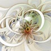 Floral Swirls Poster by Amanda Moore